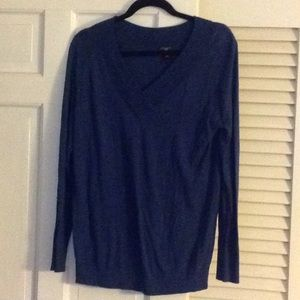 Ann Taylor LP blue V neck sweater